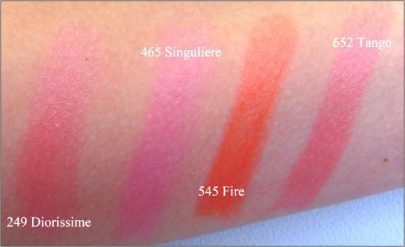 Dior Addict Lipstick Vibrant Colour Spectacular Shine Fire Tango Singuliere Diorissime