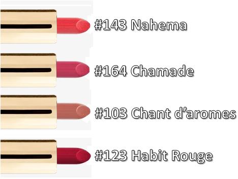 Guerlain Rouge Automatique Nahema Chamade Chant d'Arome Habit Rouge Lipstick