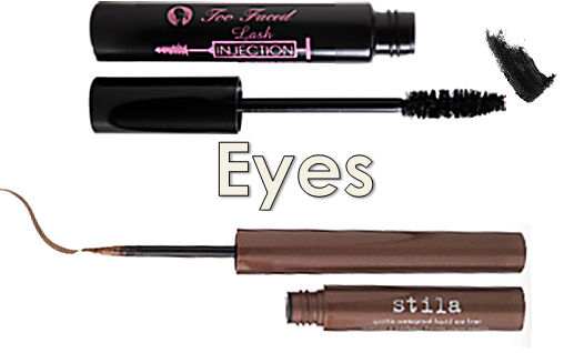 Too Faced Lash Injection Mascara Stila Waterproof Sparkle Eyeliner