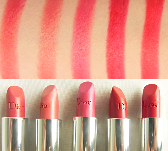 4675bf04 Swatch Post: Rouge Dior Lipstick - Escentual's Beauty Buzz