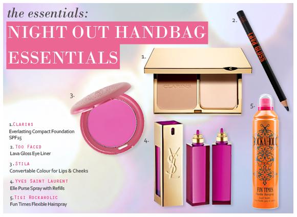 Night Out Beauty Handbag Essentials