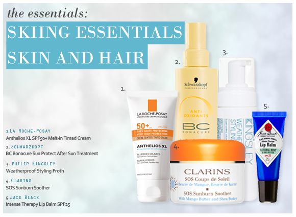 Skiing Skin and Haircare Essentials
