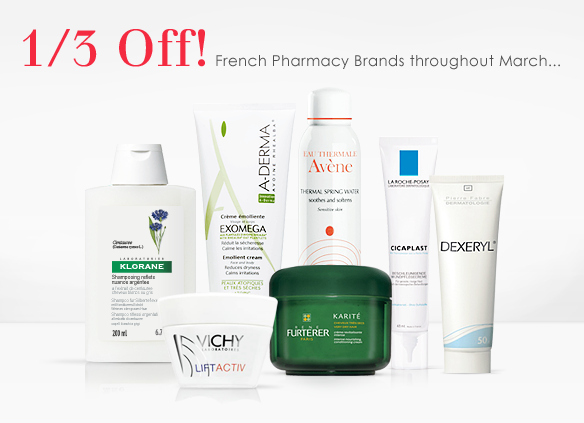 1/3 Off French Pharmacy Brands