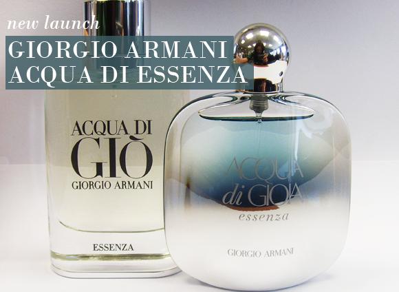 a closer look at giorgio armani acqua di gio essenza and. Black Bedroom Furniture Sets. Home Design Ideas