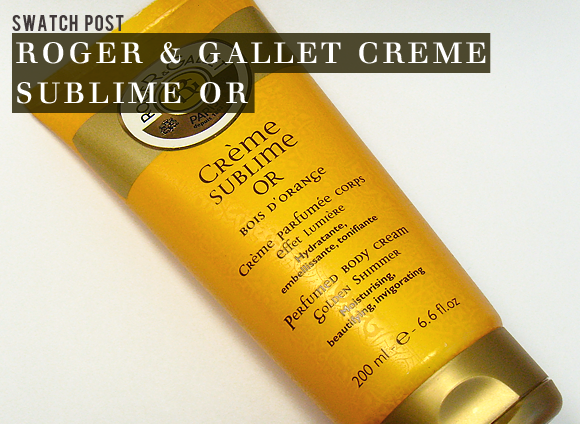 Roger & Gallet Creme Sublime Or