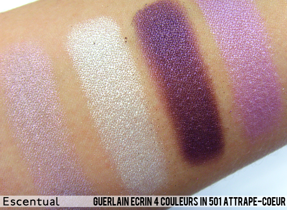 Guerlain Ecrin 4 Couleurs in 501 Attrape-Coeur Swatched