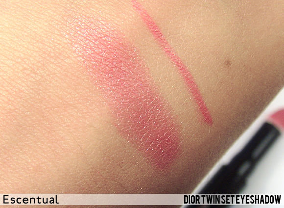 Twin Set Eyeshadow Swatched - Dior Cherie Bow Makeup Collection