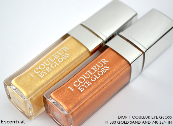 Dior 1 Couleur Eye Gloss in 530 Gold Sand and 740 Zenith
