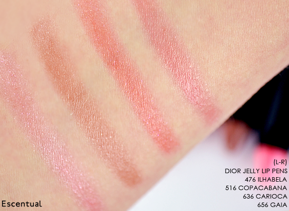 Dior Jelly Lip Pens Swatched