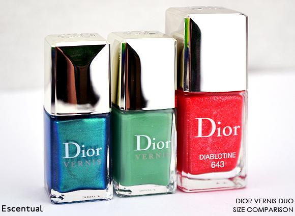 Dior Vernis Duo Size Comparison