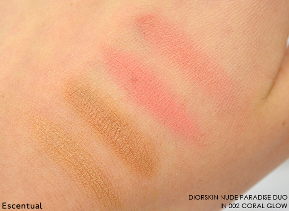 Diorskin Nude Paradise Duo in 002 Coral Glow Swatch copy