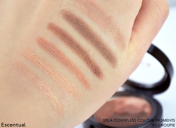 Stila Countless Colour Pigments in Groupie Swatched