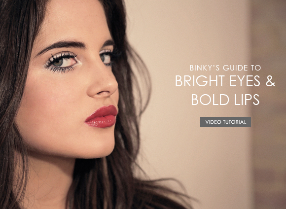 Binky bright eyes and bold lips header