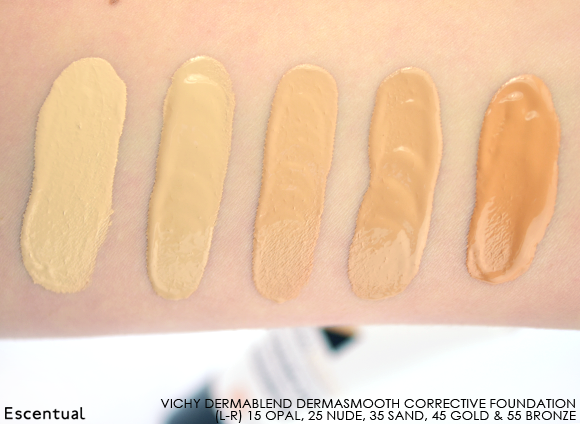 Vichy Dermablend Corrective Foundation Swatch Thick