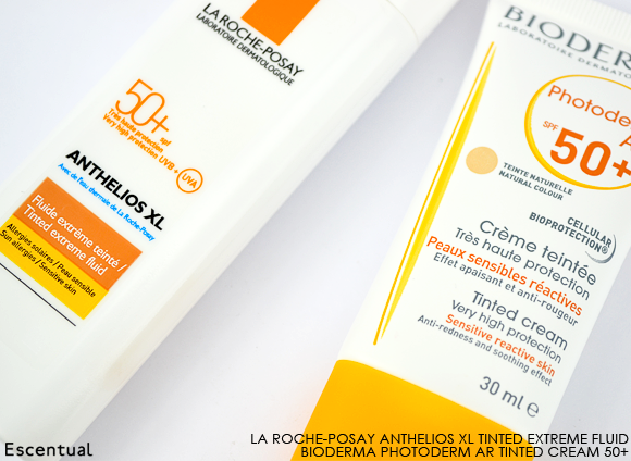 La Roche-Posay Anthelios XL Tinted Extreme and Bioderma Photoderm AR 50+
