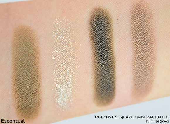 Clarins Eye Quartet Mineral Palette in 11 Forest SWATCHED