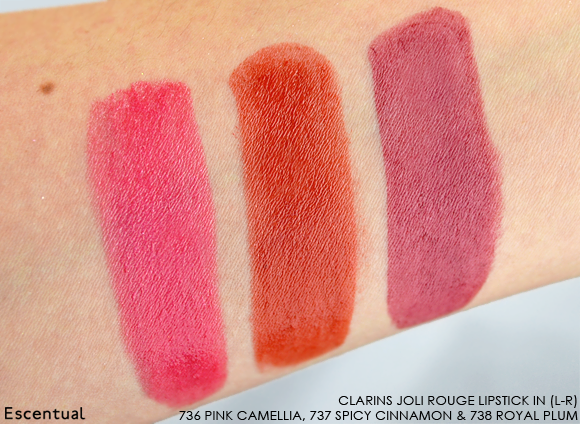Clarins Joli Rouge Lipstick SWATCHES