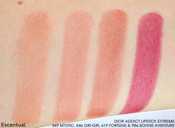 Dior Addict Lipstick Extreme Swatches V1