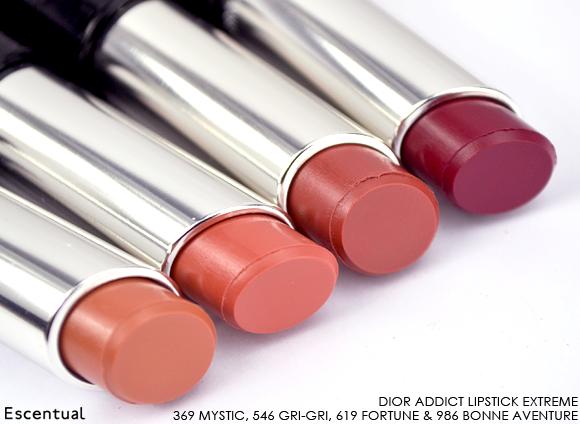 Dior Addict Lipstick Extreme Swatches