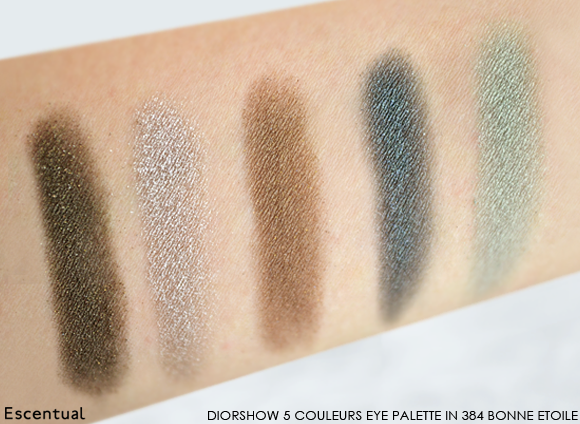 Diorshow 5 Couleurs Eye Palette in 384 Bonne Etoile Swatched