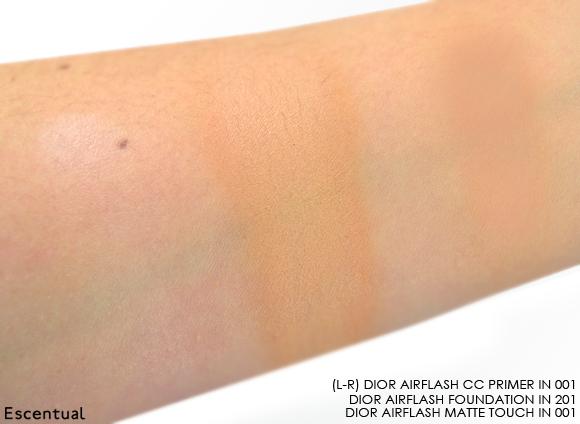 Dior Airflash Swatches