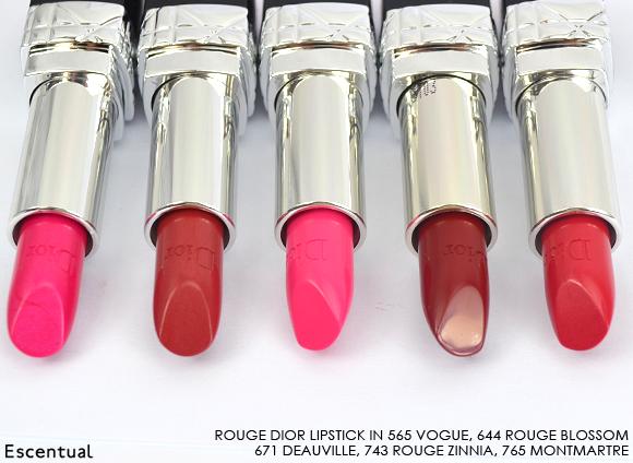 Rouge Dior Lipstick 565 644 671 743 765