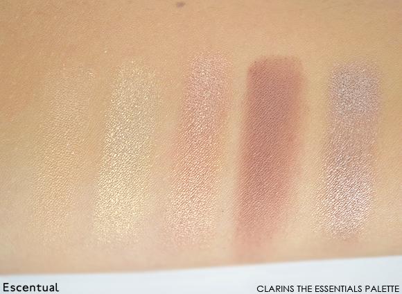 Clarins The Essentials Eye Make-Up Palette Light Shades Swatches