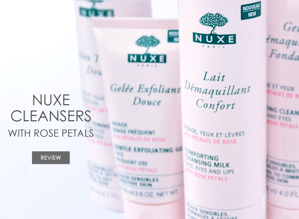 Nuxe Cleansers with Rose Petals Banner