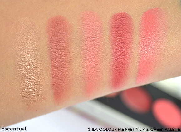 Stila Colour Me Pretty Lip & Cheek Palette Swatch