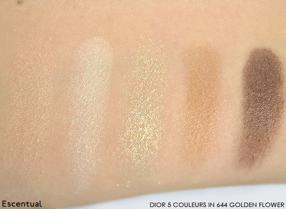 Dior 5 Couleurs Eyeshadow in 634 Golden Flower Swatched