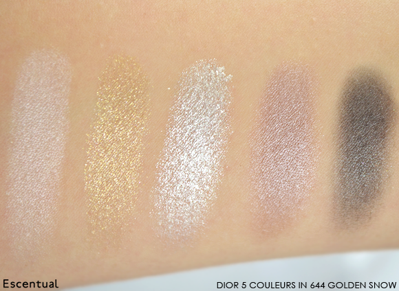 Dior 5 Couleurs Eyeshadow in 644 Golden Snow Swatch