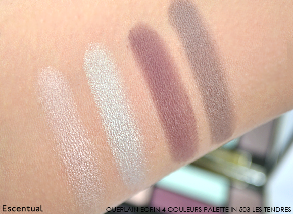 Guerlain Ecrin 4 Couleurs in 503 Les Tendres Swatches Meteorites Blossom Spring