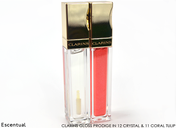 Clarins Gloss Prodige in 12 Crystal and 11 Coral Tulip