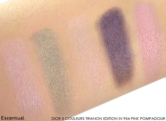 Dior 5 Couleurs Trianon Edition in 954 Pink Pompadour Swatched