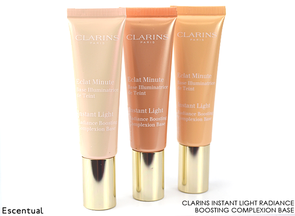 Clarins Instant Light Complexion Base in 01 Rose - 02 Champagne - 03 Peach