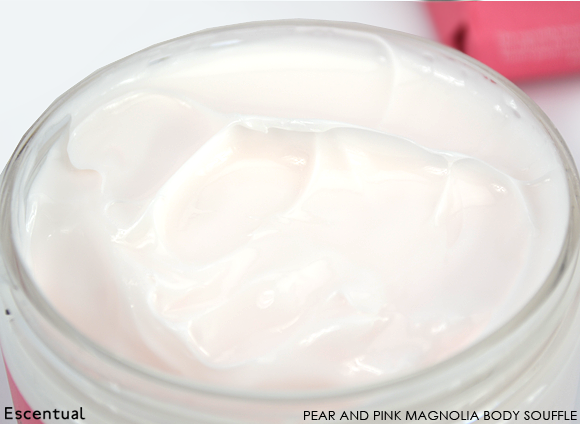 Crabtree & Evelyn Pear and Pink Magnolia Body Souffle Close