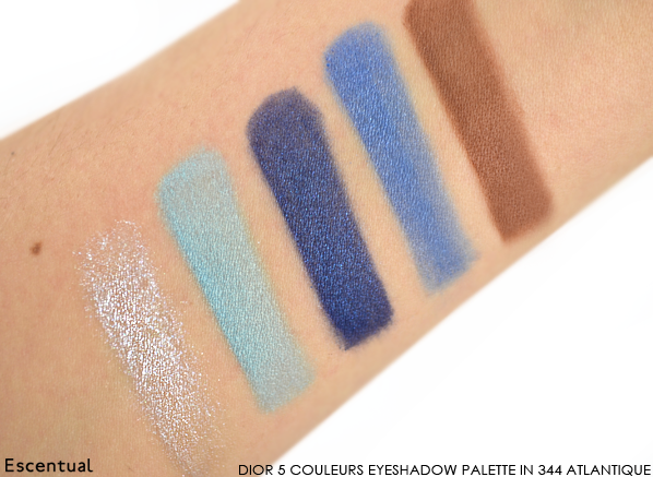 Dior 5 Couleurs Eyeshadow Palette in 344 Atlantique Swatches