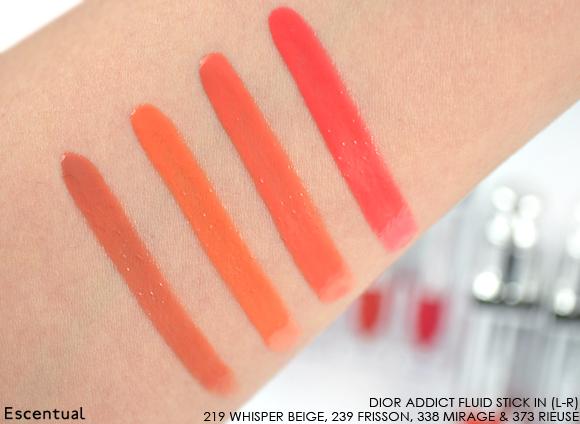 Dior Addict Fluid Stick - 219 Whisper Beige - 239 Frisson - 338 Mirage - 373 Rieuse