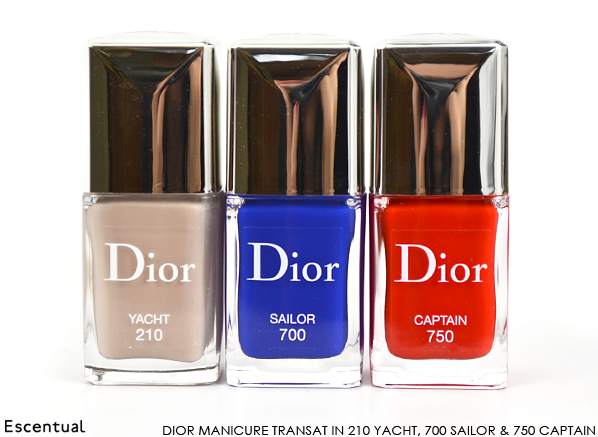 Dior Vernis Manicure Transat in 210 Yacht 700 Sailor 750 Captain