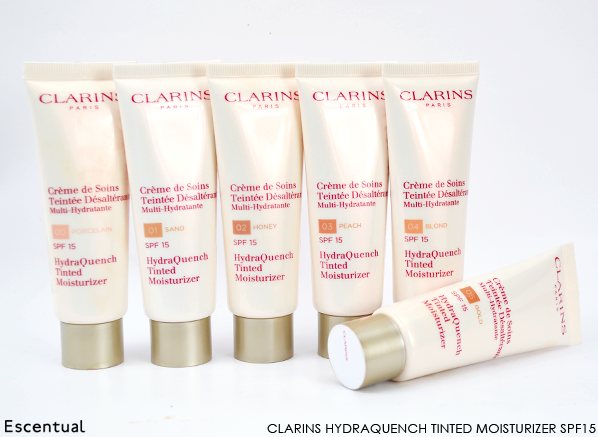 Clarins HydraQuench Tinted Moisturizer SPF15 Line Up