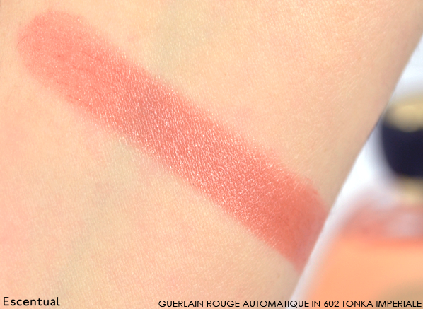 Guerlain Rouge Automatique in 602 Tonka Imperiale Swatch