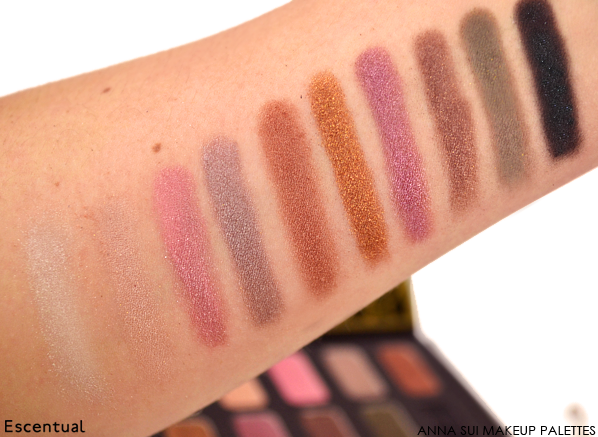 Anna Sui Eye Colour Palette Swatch