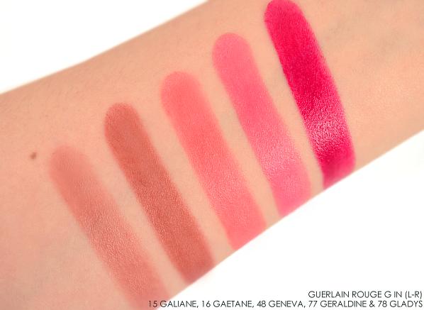 Guerlain Rouge G Lipstick--15 Galiane-16 Gaetane-48 Geneva-77 Geraldine-78 Gladys