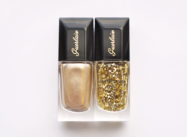 Guerlain La Laque Nail Lacquer in 400 Coque d'Or and 901 Ouiseau En Feu copy 1