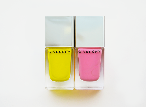 Givenchy Le Vernis 24 Jaune Evocation and 25 Rose Evocation