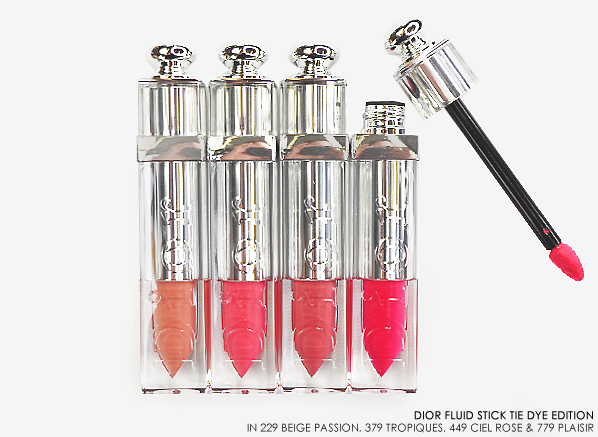Dior Addict Fluid Stick Tie Dye Edition Swatches