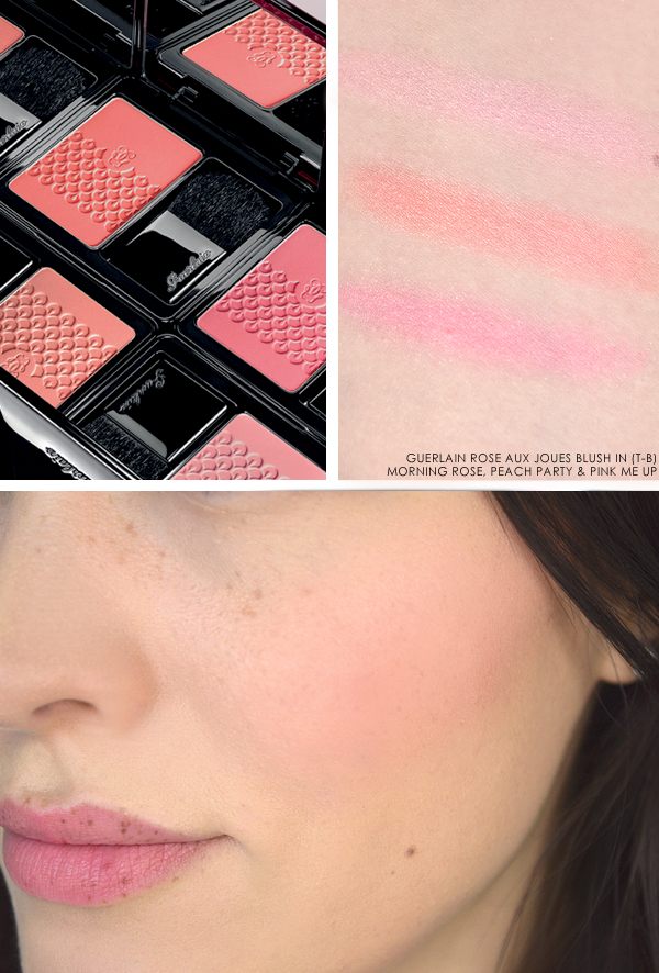 Guerlain Rose Aux Joues Blush - Morning Rose - Peach Party - Pink Me Up