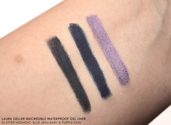 Laura Geller INKcredible Waterproof Gel Eyeliner Pencil Swatches