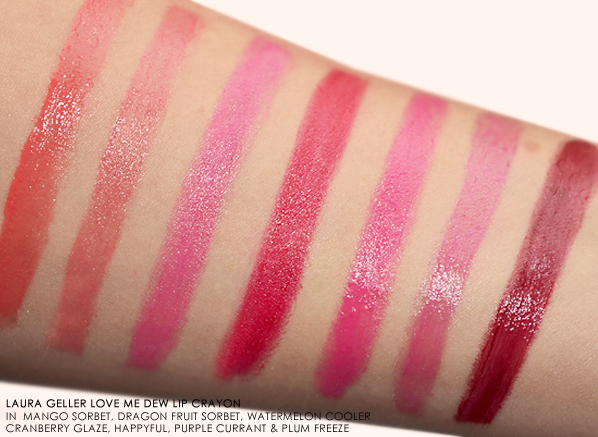 Laura Geller Love Me Dew Lip Crayon Swatches