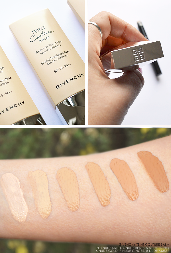 Givenchy Teint Couture Balm Swatches